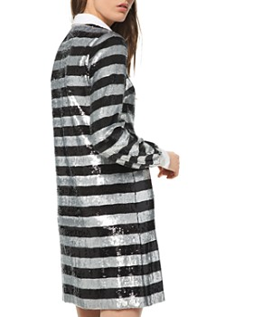 MICHAEL Michael Kors - Striped Sequined Shirt Dress