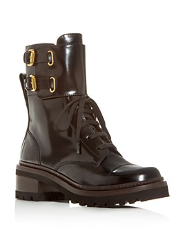 See by Chloé - Women's Mallory Block-Heel Combat Boots