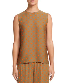 Theory - Continuous Polka Dot Silk Tank