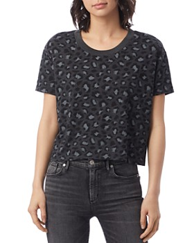 ALTERNATIVE - Headliner Leopard Print Cropped Tee
