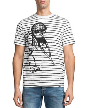 PRPS - Fukushima Big Cherub Striped Tee