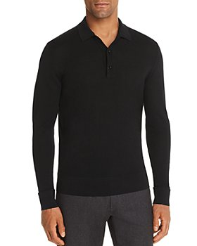 The Men's Store at Bloomingdale's - Long-Sleeve Knit Classic Fit Polo Shirt - 100% Exclusive