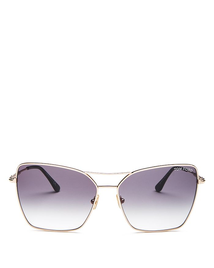Tom Ford - Women's Sye Brow Bar Square Sunglasses, 61mm