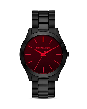Michael Kors Slim Runway Black Watch, 44mm