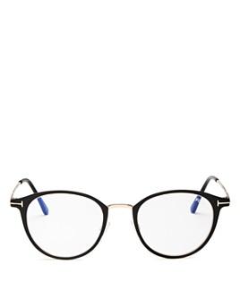 Tom Ford - Men's Round Blue Light Glasses, 49mm