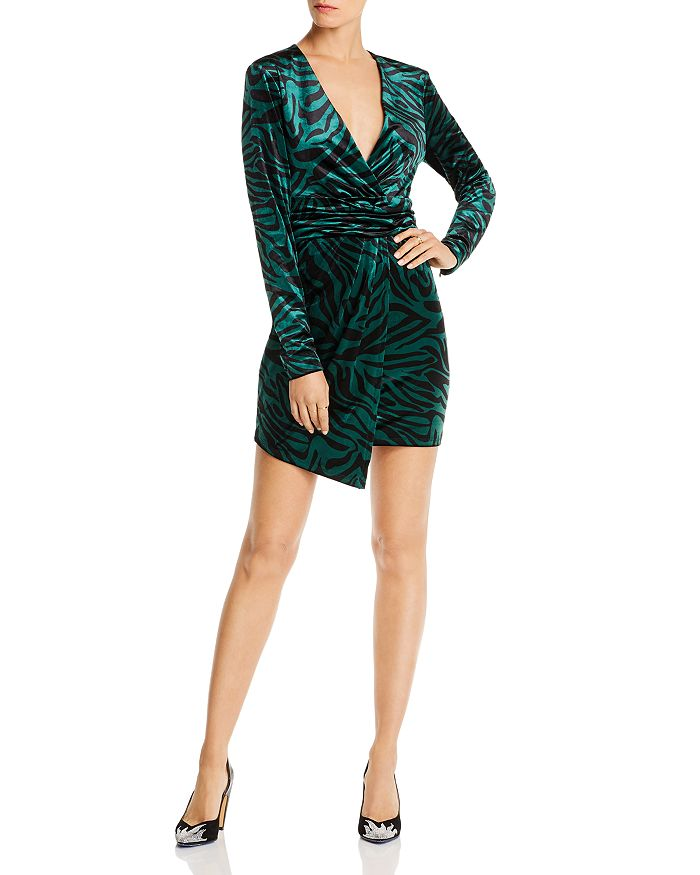 LINI - Natalie Zebra Print Velvet Dress - 100% Exclusive