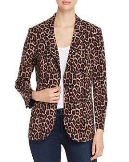 T Tahari - Leopard-Print Knit Blazer