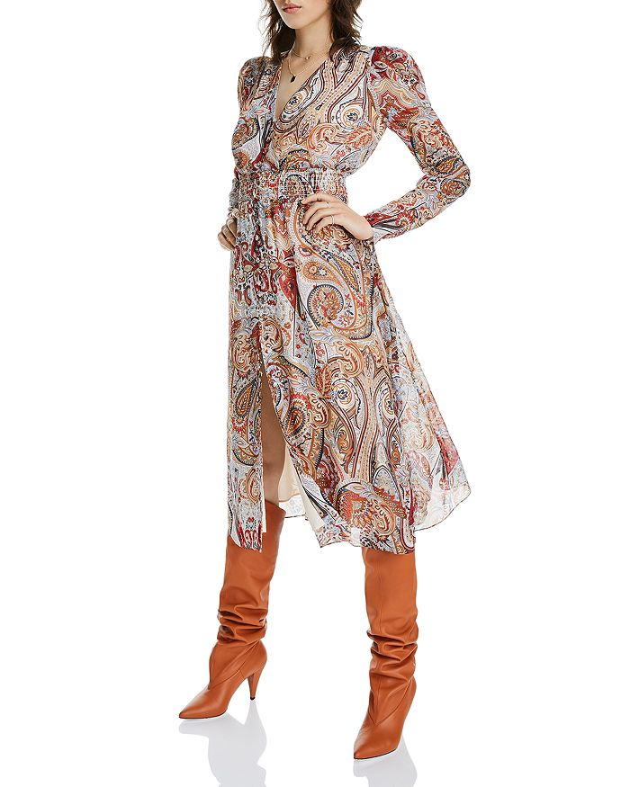 LINI - Erica Floral Paisley Midi Dress - 100% Exclusive