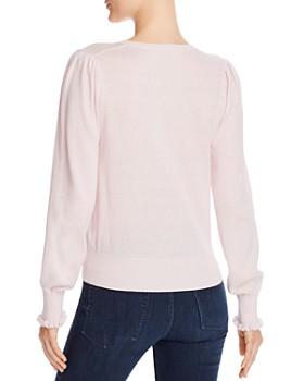 Rebecca Taylor - Ruffle-Cuff V-Neck Sweater - 100% Exclusive