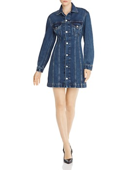 Helmut Lang - Femme Denim Trucker Dress