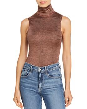 Alix - Bevy Metallic Heathered Bodysuit