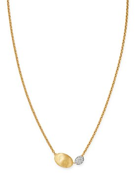 Marco Bicego - 18K Yellow & White Gold Siviglia Diamond Pendant Necklace, 16""