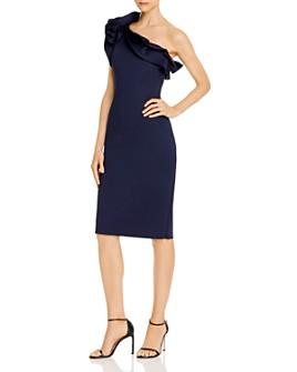 Eliza J - Ruffled One-Shoulder Dress
