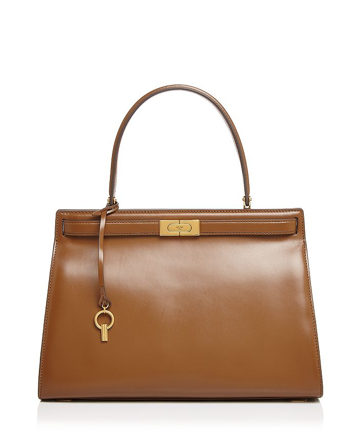 Tory Burch Lee Radziwill Satchel In Moose/gold
