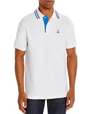 Psycho Bunny T-shirts SHORTLANDS STRIPE-TIPPED CLASSIC FIT POLO SHIRT