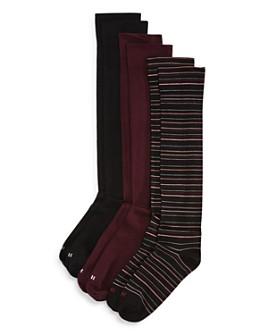 HUE - Knee Socks, Set of 3