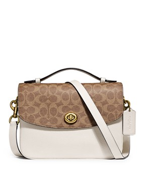 COACH - Cassie Leather & Signature Coated Canvas Crossbody
