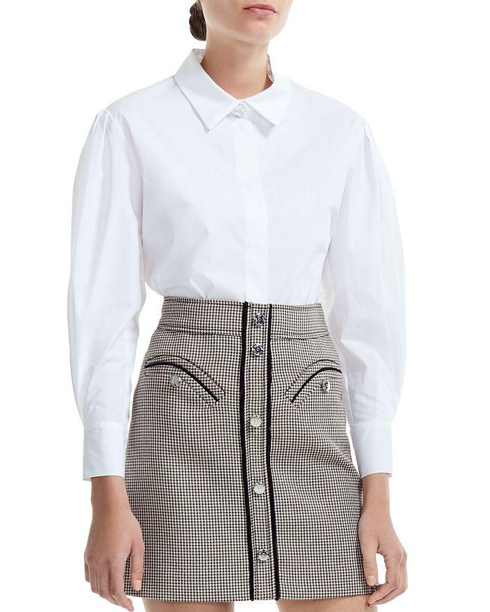 Maje - Capucine Cotton Button-Down Shirt