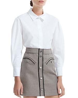Maje Capucine Cotton Button-Down Shirt