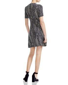Maje - Ripi Twist-Detail Animal-Print Mini Dress