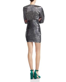 Maje - Runny Metallic Wrap-Skirt Mini Dress
