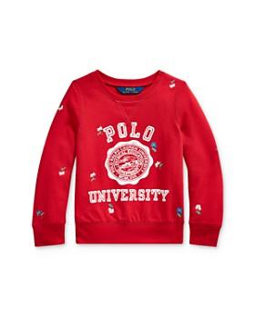 Ralph Lauren - Girls' Embroidered Graphic Sweatshirt - Little Kid