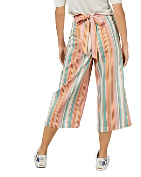 Ted Baker - Cearaa Striped Cropped Wide-Leg Pants