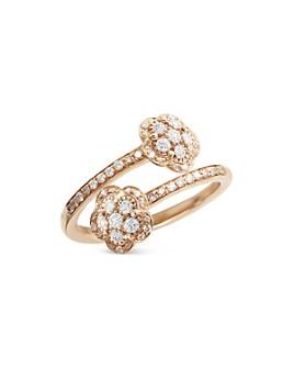 Pasquale Bruni - 18K Rose Gold Figlia dei Fiori White & Champagne Diamond Bypass Ring