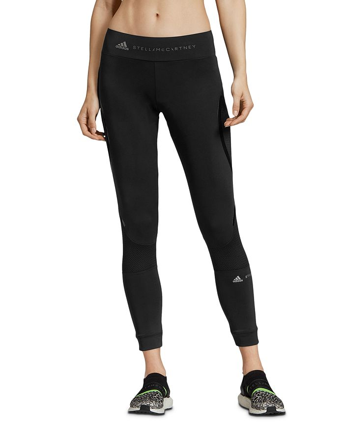 adidas by Stella McCartney - Performance Essentials Mesh-Inset Leggings