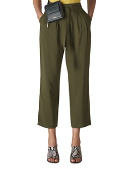 Whistles - Ruth Pleated Wide-Leg Cropped Pants