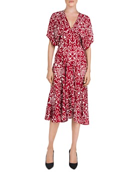 The Kooples - Botanical-Print Midi Dress