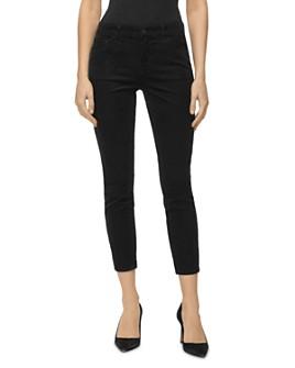 J Brand - 835 Mid Rise Cropped Skinny Corduroy Pants in Black