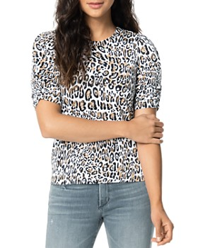 Joe's Jeans - Twist-Sleeve Leopard-Printed Tee