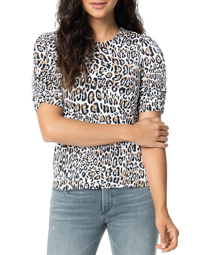 Joe's Jeans - Twist-Sleeve Leopard-Printed Tee
