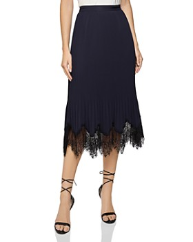 REISS - Ania Pleated Lace Skirt