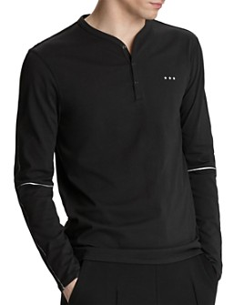 John Varvatos Star USA - Oakland Long-Sleeve Snap-Placket Henley