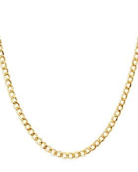 """Zoe Lev - 14K Yellow Gold Cuban Link Choker, 15"""""""