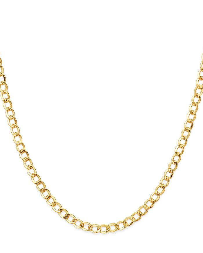 3e96c5ab69857 14K Yellow Gold Cuban Link Choker, 15