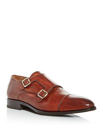 PASTORI - Men's Remus Leather Monk-Strap Cap-Toe Oxfords