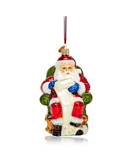 Old World Christmas - Santa Checking His List Glass Ornament