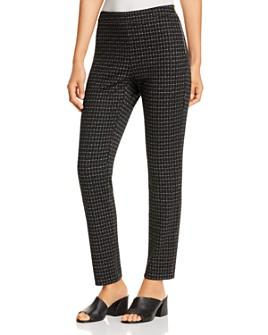 Donna Karan - Grid Print Straight Knit Pants