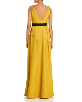 Rebecca Vallance - Greta Plunging Belted Gown