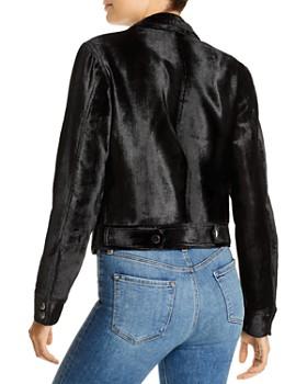 Ramy Brook - Danser Velvet Faux-Fur Biker Jacket