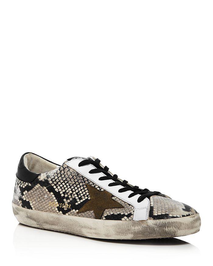 Golden Goose Deluxe Brand - Unisex Superstar Snake Print Leather Sneakers