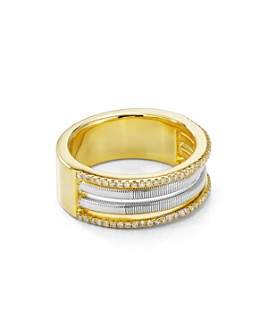 Bloomingdale's - Diamond Band in 14K Gold-Plated Sterling Silver & Sterling Silver, 0.17 ct. t.w. - 100% Exclusive