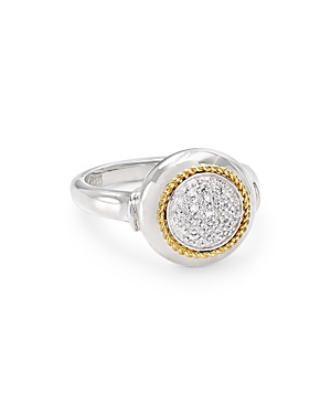 Bloomingdale's Marc & Marcella Diamond Round Ring in Sterling Silver & 14K Gold-Plated Sterling Silv