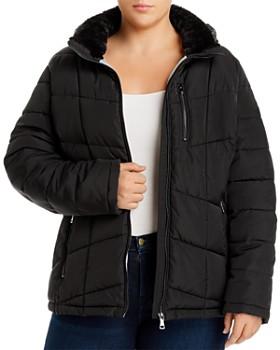 Calvin Klein Plus - Hooded Puffer Jacket