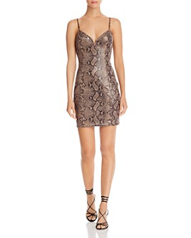 ASTR the Label - Come Slither Snake Print Dress