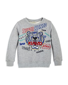 Kenzo - Boys' Embroidered Tiger & Logo Sweatshirt - Big Kid