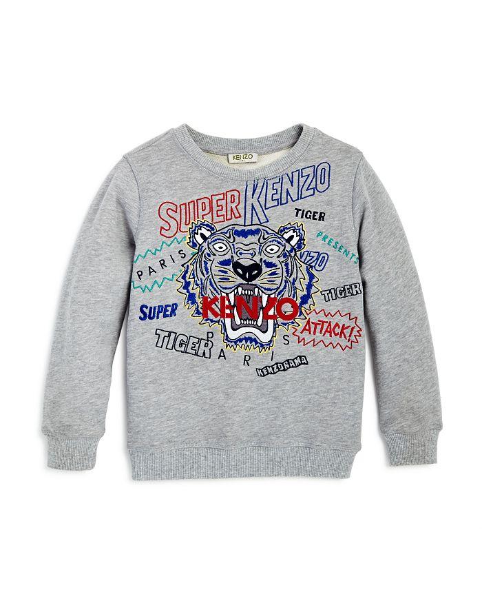 Kenzo - Boys' Embroidered Tiger & Logo Sweatshirt - Little Kid